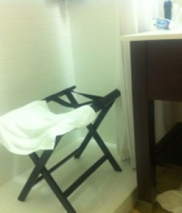Hotel Shower Bench Unavailable While Traveling?