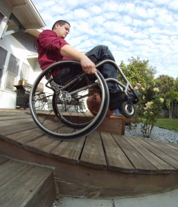 The Wheelchair Wheelie (part 1 of 3)