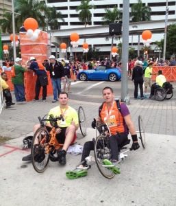 2012 ING Miami Marathon On A Hand-Cycle